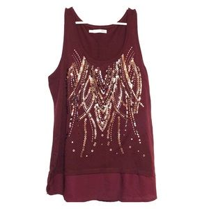 Maurices Sequined Tank Top